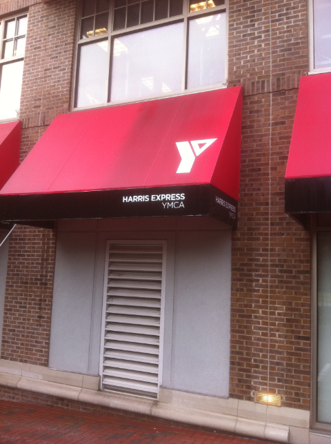 Harris YMCA Awning Cleaning
